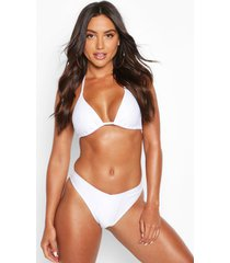 mix & match triangle bikini top, white