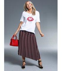 kjol miamoda svart::röd::vit