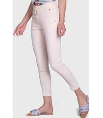 pantalón ash doble botón rosa - calce ajustado