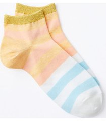 loft colorblock ankle socks