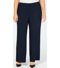 alfani plus & petite plus size curvy bootcut tummy-control pants, created for macy's