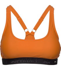 bora crop bikini top bikinitop orange superdry
