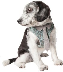 pet life 'fidomite' reversible and adjustable dog harness with neck tie