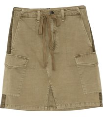 rag & bone women's super high-rise a-line cargo skirt - army - size 26 (2-4)