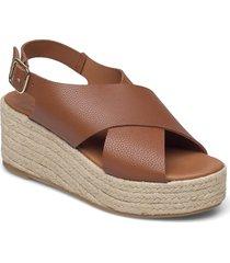 espadrilles 2669 sandalette med klack espadrilles brun billi bi