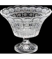 centro de mesa de cristal c/pé tagant 20x19cm