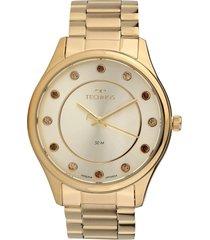 relógio technos 2036mli/4x dourado