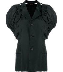 comme des garçons pre-owned 1989 off-the-shoulder jacket - black