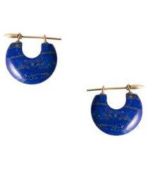 brinco feminino grego - azul