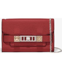 proenza schouler chain ps11 clutch 3074 flame red one size