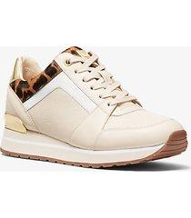 mk sneaker billie in materiale misto - écru (naturale) - michael kors