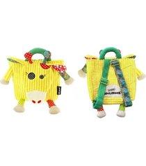 mochila girafa deglingos amarelo