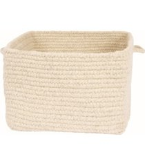colonial mills chunky natural wool square braided basket