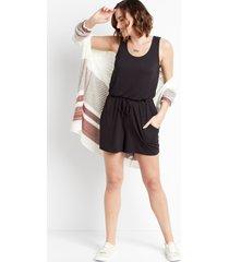 maurices womens 24/7 black drawcord pocket sleeveless romper