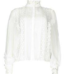 blouse met kanten details venice  wit