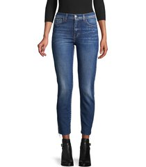 l'agence women's distressed ankle jeans - diamond - size 24 (0)
