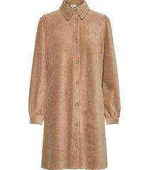 gineva dress jurk knielengte beige modström