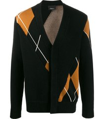 3.1 phillip lim argyle check cardigan - black