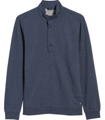 men's big & tall cutter & buck saturday mock neck sweatshirt, size 4xlt - blue