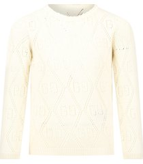 gucci ivory sweater for girl with double gg