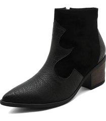 botín texano negro heels.d