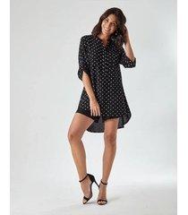 vestido chemise poa feminino - feminino