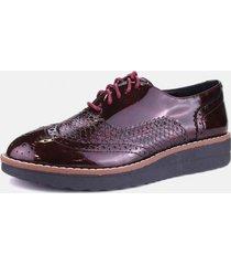 zapato oxford trufa burdeo chalada