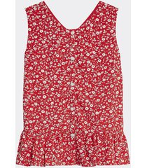 blusa de viscosa sin mangas rojo tommy hilfiger