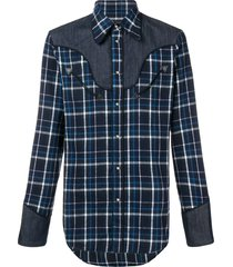 dsquared2 cowboy shirt - blue