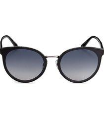 swarovski women's 65mm round sunglasses - black