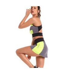 shorts saia bonna forma fitness splash