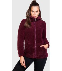 chaqueta everlast santa bárbara burdeo - calce regular