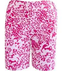 shorts pau a pique estampado pink - rosa - feminino - dafiti