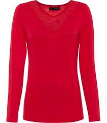maglia con pizzo (rosso) - bodyflirt