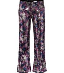 collina strada mariposa sequinned trousers - black