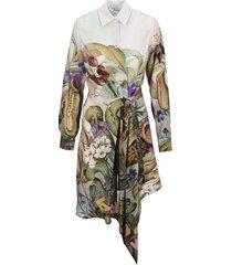 off-white off white botanical dress