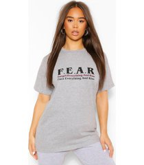 f.e.a.r graphic t-shirt, grey