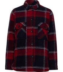 w kelly shirt jacket tricolour overshirts rood peak performance