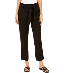 style & co tie-belted utility pants, created for macy's