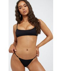 south beach hi leg bikini bottom trosa black
