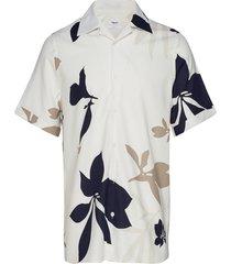 m. don sandhamn print shirt overhemd met korte mouwen crème filippa k