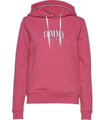 tjw essential logo hoodie hoodie röd tommy jeans