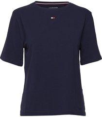 bn tee half t-shirts & tops short-sleeved blå tommy hilfiger