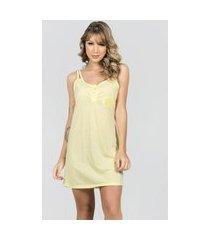 camisola com robe bella fiore modas malha lisa cíntia amarelo