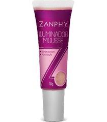 iluminador mousse rose zanphy brilho sofisticado impecável
