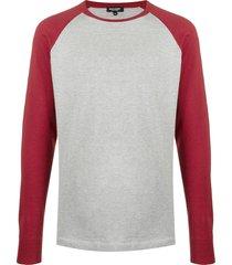 ron dorff long-sleeve baseball t-shirt - grey
