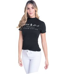 camiseta adulto femenino negro marketing  personal