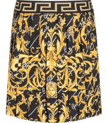 versace black girl skirt with gold iconic medusa