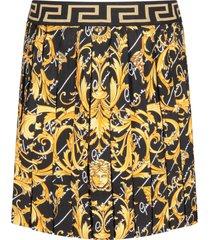versace black girl skirt with gold iconic medusa