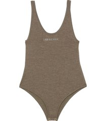burberry knitted sleeveless bodysuit - brown